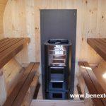 Harvia in barrel sauna