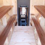Thermowood aspen sauna seats